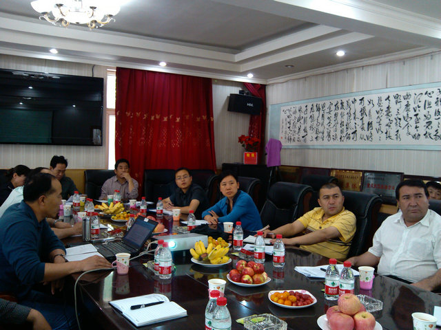 阿克苏拜城县峰峰集团调研1