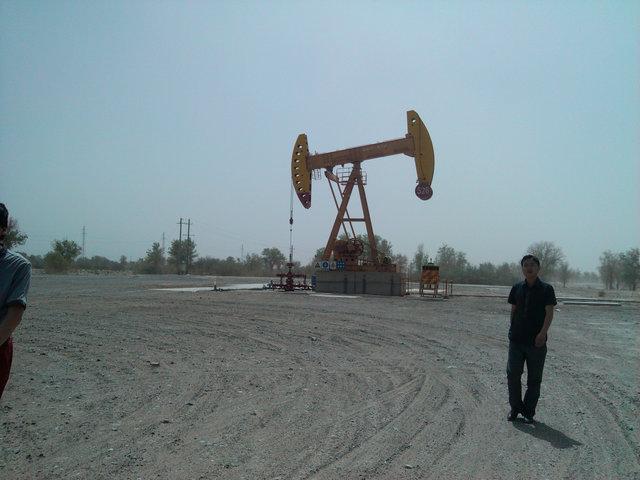 轮南油田的单井